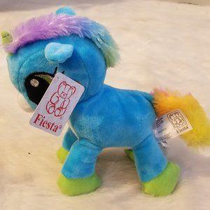 Fiesta Blue Fantasy Plush Unicorn New